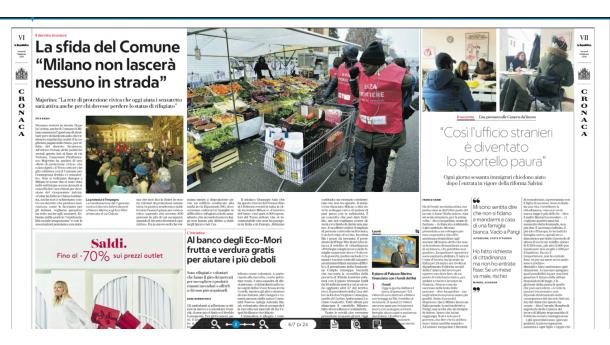 Immagine: Al banco degli Eco-Mori frutta e verdura gratis per aiutare i più deboli
